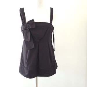 Marc by Marc Jacobs square neck babydoll black top